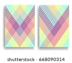abstract geometric pattern with ... | Shutterstock .eps vector #668090314