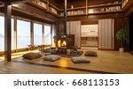 Japanese Interior. Modern Japa...