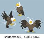 bald eagle vector cartoon... | Shutterstock . vector #668114368