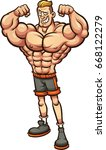 strong man with skinny legs.... | Shutterstock .eps vector #668122279