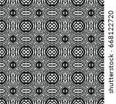 engraving seamless pattern. the ... | Shutterstock .eps vector #668122720