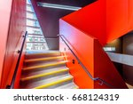 stairs. top view of modern... | Shutterstock . vector #668124319