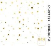 golden star background. vector... | Shutterstock .eps vector #668130409