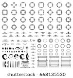 circle and square wicker... | Shutterstock . vector #668135530