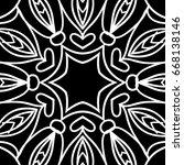 oriental floral pattern. vector ... | Shutterstock .eps vector #668138146