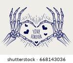 love forever poster. vector... | Shutterstock .eps vector #668143036
