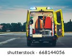 ambulance car of the emergency... | Shutterstock . vector #668144056