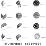 mega collection of vector logo... | Shutterstock .eps vector #668144599