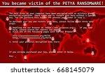 petya ransomware computer virus ... | Shutterstock . vector #668145079