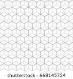 heaxgon seamless pattern.... | Shutterstock .eps vector #668145724