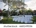 outdoor decoration  party chair ... | Shutterstock . vector #668149036