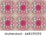 beautiful raster snowflakes... | Shutterstock . vector #668159293