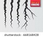 cracks isolated. vector... | Shutterstock .eps vector #668168428