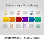 template of timeline with... | Shutterstock .eps vector #668174800