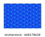 vector pattern with swirling... | Shutterstock .eps vector #668178628