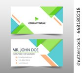 green corporate business card ...