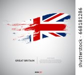 flag of united united kingdom... | Shutterstock .eps vector #668181286