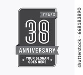 38 years anniversary design... | Shutterstock .eps vector #668183890