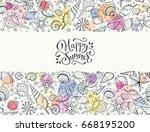 summer time horizontal banner.... | Shutterstock .eps vector #668195200