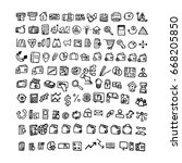 doodle business icons. hand... | Shutterstock . vector #668205850