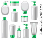 vector cosmetic packaging icons ... | Shutterstock .eps vector #668211718