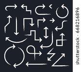 hand drawn arrow set  vector... | Shutterstock .eps vector #668216896