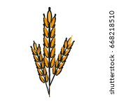 wheat ears icon image  | Shutterstock .eps vector #668218510
