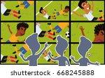 vector cartoon illustration of... | Shutterstock .eps vector #668245888
