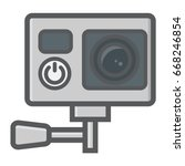 action camera colorful line...   Shutterstock .eps vector #668246854
