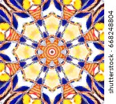 melting colorful symmetrical... | Shutterstock . vector #668248804