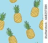 simple seamless pattern with...   Shutterstock .eps vector #668257384