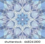 abstract illustration blue... | Shutterstock . vector #668261800