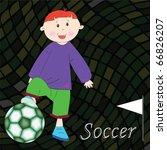 soccer player background ... | Shutterstock .eps vector #66826207
