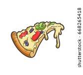 vector cartoon illustration of... | Shutterstock .eps vector #668265418