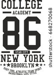 college academy graphic design... | Shutterstock .eps vector #668270068