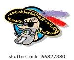 a handsome pirate wearing an... | Shutterstock .eps vector #66827380