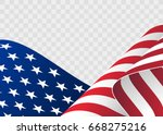 waving flag of the united... | Shutterstock .eps vector #668275216