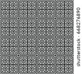 engraving seamless pattern. the ... | Shutterstock .eps vector #668276890