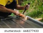 weld the door | Shutterstock . vector #668277433