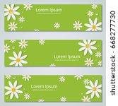green summer banners vector... | Shutterstock .eps vector #668277730