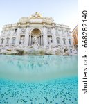 underwhater view at trevi... | Shutterstock . vector #668282140