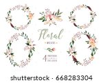 hand drawing isolated boho... | Shutterstock . vector #668283304