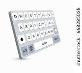 modern keyboard of smartphone  ...