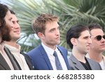 Small photo of Joshua Safdie, Ben Safdie, Robert Pattinson, Buddy Duress, Oscar Boyson attend the 'Good Time' photocall during the 70th Cannes Film Festival at Palais des Festivals on May 25, 2017 in Cannes, France.