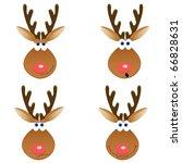 a set of four christmas deer... | Shutterstock .eps vector #66828631