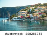 assos is a small town on the... | Shutterstock . vector #668288758
