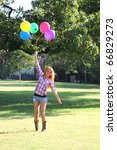 girl with balloons | Shutterstock . vector #66829273