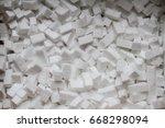 Closeup White Polystyrene Foam...