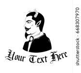gothic logo  satan man  devil... | Shutterstock .eps vector #668307970