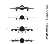 airplanes vector icon   Shutterstock .eps vector #668309428